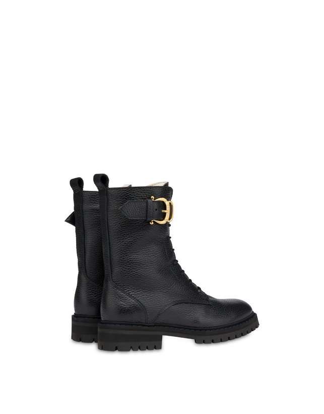 Buckle Notes combat boots in tumbled calfskin Photo 3