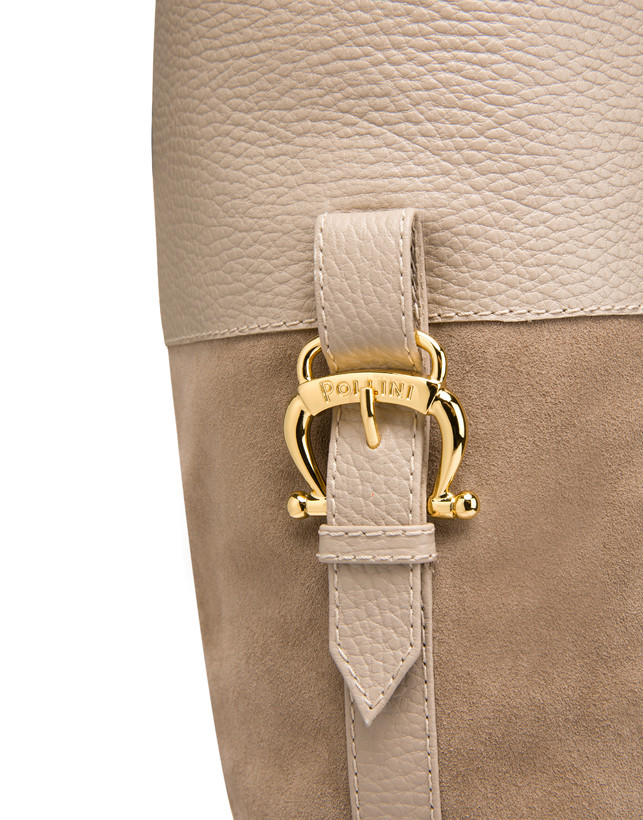 High boots in suede and Cabiria Buckle calfskin Photo 5