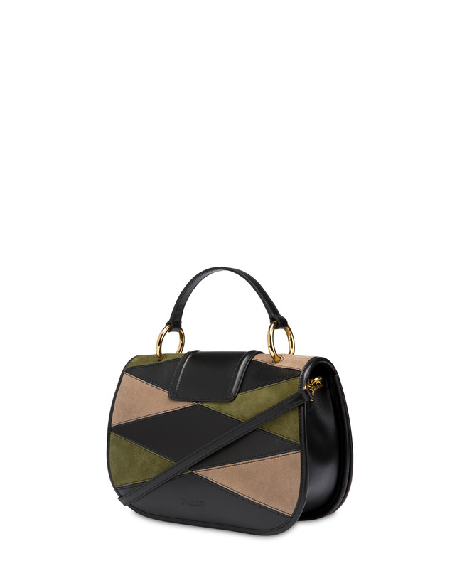 Patchwork handbag in suede and Cabiria Buckle calfskin Photo 3