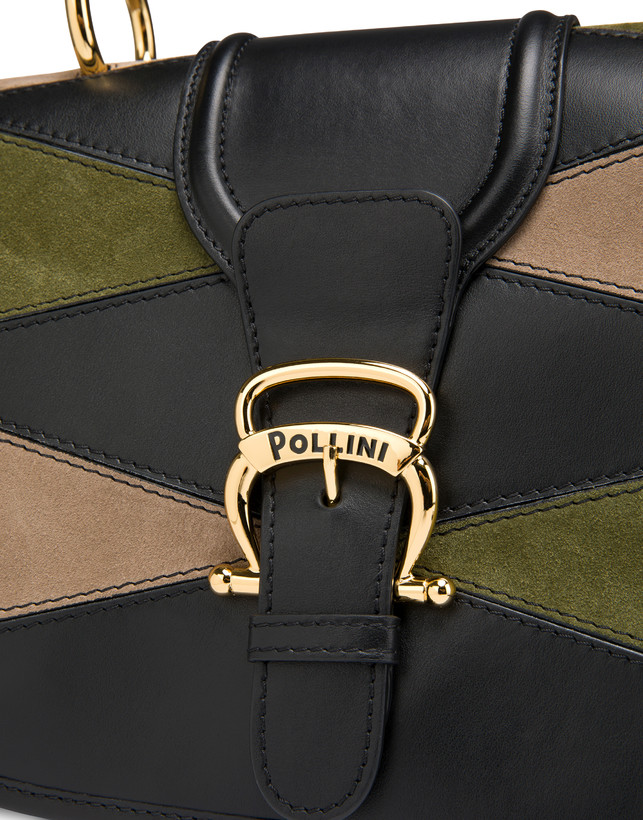 Patchwork handbag in suede and Cabiria Buckle calfskin Photo 5