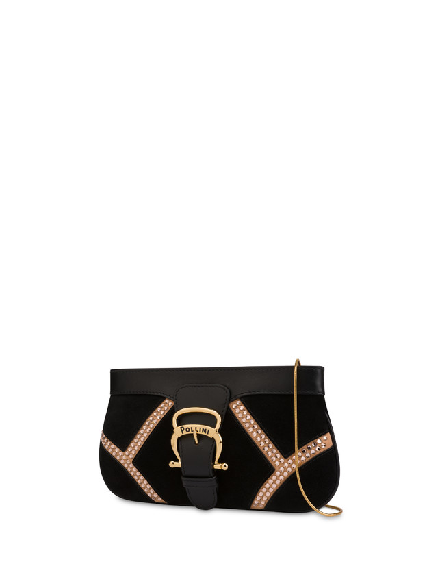 Nataly X Pollini Suede clutch bag with rhinestones Photo 2
