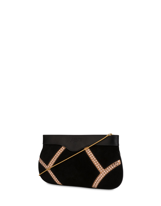 Nataly X Pollini Suede clutch bag with rhinestones Photo 3