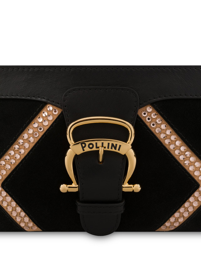 Nataly X Pollini Suede clutch bag with rhinestones Photo 5
