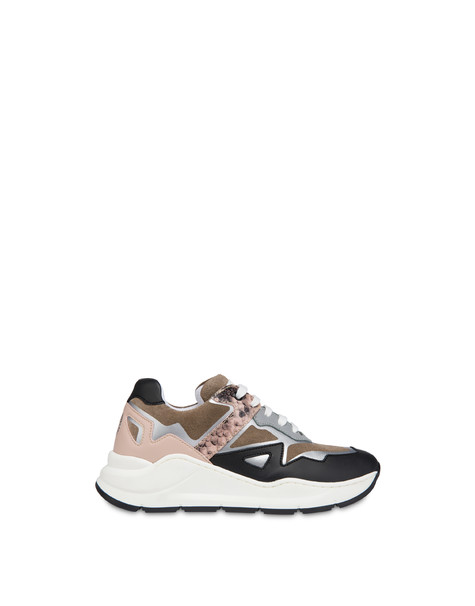 New Kite suede and leather sneakers Earth/old rose/black/fog/old rose