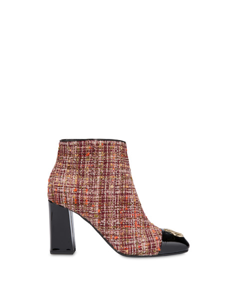 Twin P wool fabric ankle boots Brunello/black