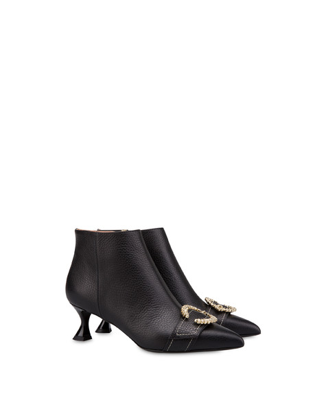 Breakfast At Tiffany's calfskin ankle boots Black