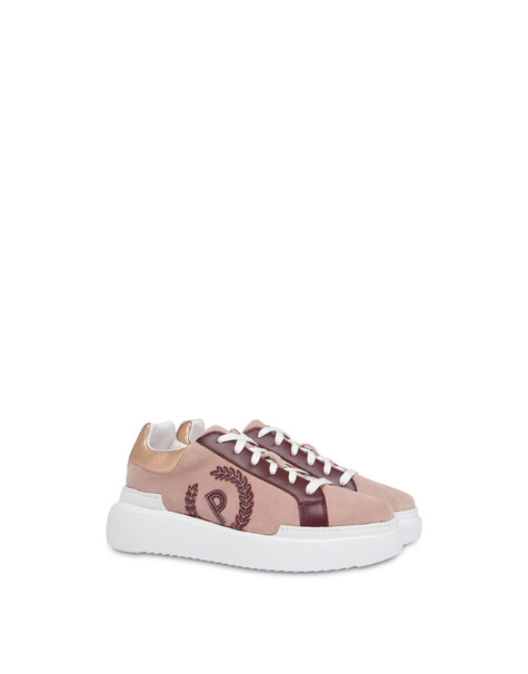Carrie suede leather sneakers Old rose/brunello/dawn
