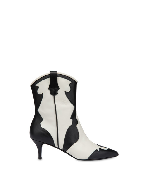 Calfskin ankle boots From Texas To Colorado Black/ice