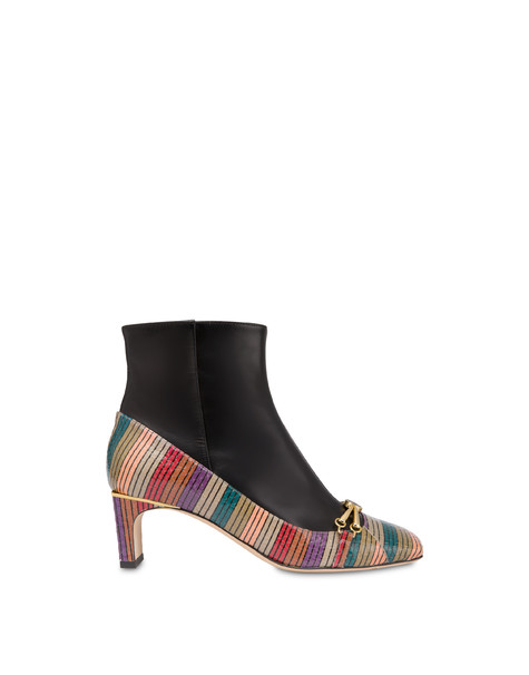 Ankle boots in elaphe and Giulietta Clamp calfskin Multicolour/black
