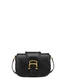 Cabiria Buckle calfskin shoulder bag Black
